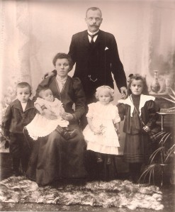 Family Portrait, 1905 Karl, Rose, Great-Grandmother, Great-Grandfather, Betty and Agnes (l to r)
